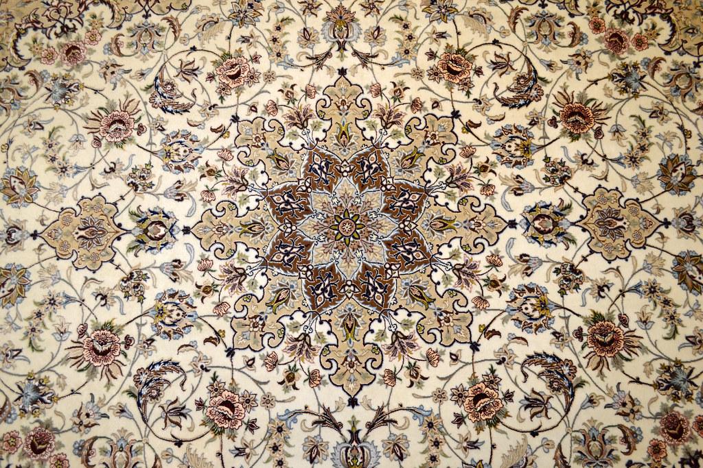Fine Isfahan Esfahan Persian Area Rug 7x10 (7)