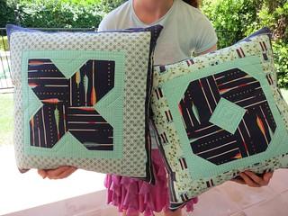 XO cushions in Cotton + Steel