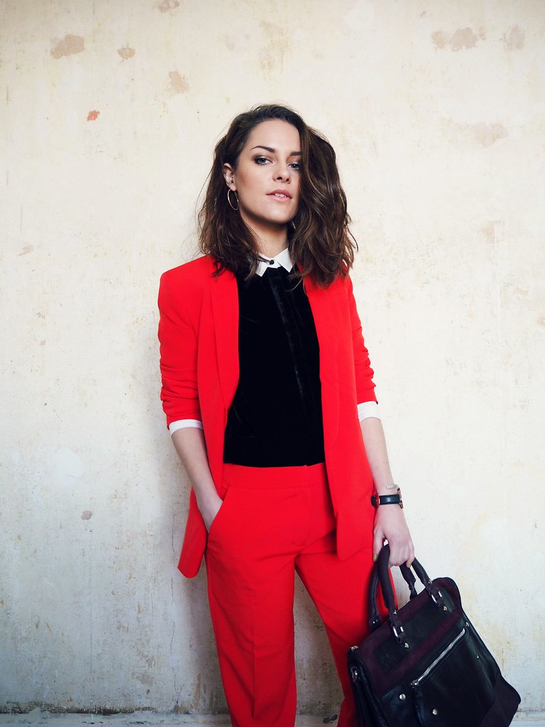 ASOS red cigarette suit 5