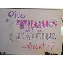 "sharing some #whiteboardjoy for today! ""Give thanks with a grateful heart"" <3 #thanksgiving"