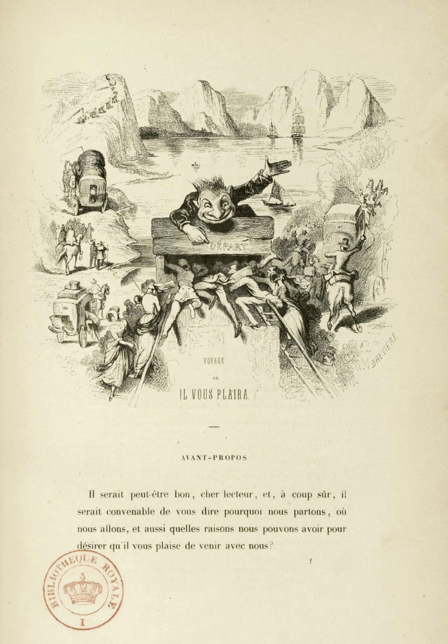 "Tony Johannot - Illustration for ""Voyage où il vous plaira"" by Musset and Stahl (1843) 24"