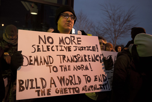 Solidarity rally and march for Michael Brown in response to the Furguson grand jury decision from Flickr via Wylio