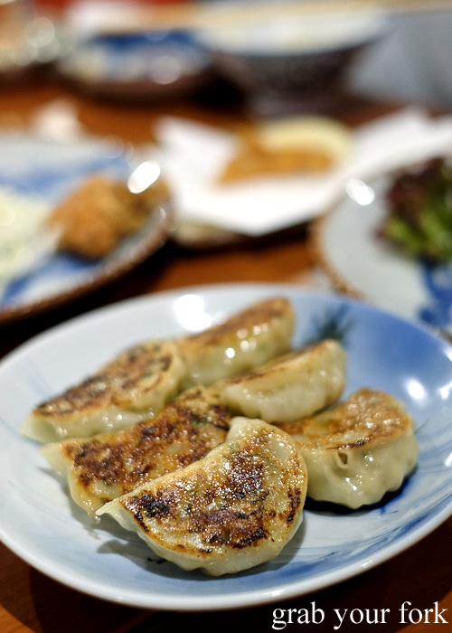 Homemade dumpling gyoza at Nom, Darlinghurst