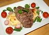 Roast Lamb Loin, Dauphinoise Potatoes, Cherry Tomato
