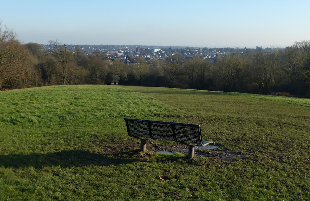 Bench with a view (option c & d) Totteridge Circular walk