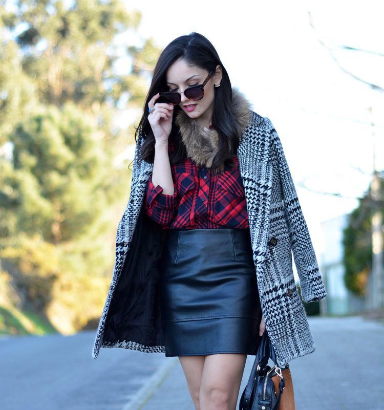 Zara_plaid_ootd_inspiration_outfit_skirt_leather_coat_fur_06