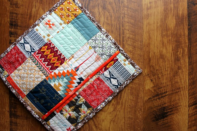 Scrappy Quilted  Patchwork