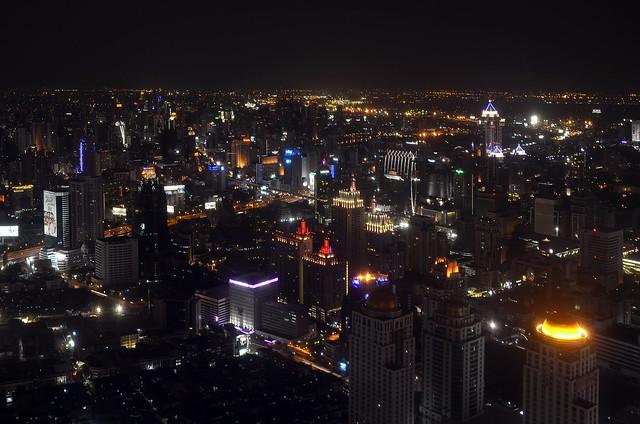 Skyline de Bangkok desde el mirador del hotel Baiyoke