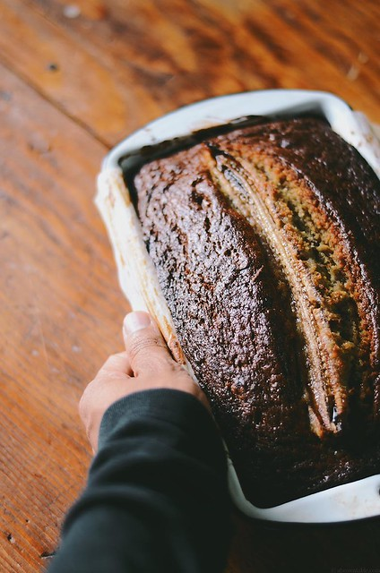 Banana Hazelnut Pound Cake | A Brown Table