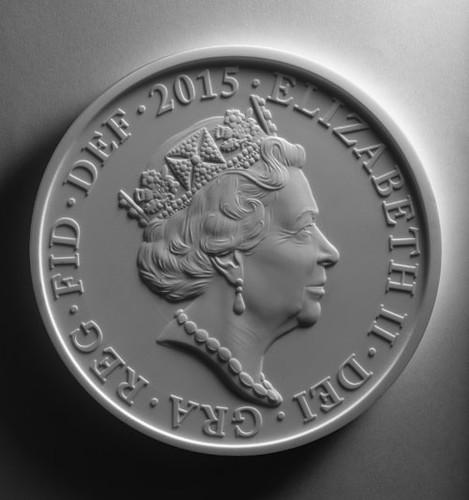 2015 QEII coin plaster model
