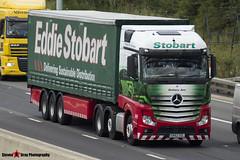 Mercedes Benz Actros 6x2 - GK62 OZL - H2747 - Bethany Ann - Eddie Stobart - M1 J10 Luton, Bedfordshire - Steven Gray - IMG_0017