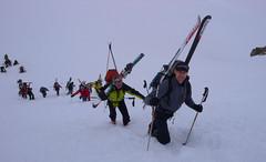 Podejscie na przełęcz Col du Mont Brulé 3213m