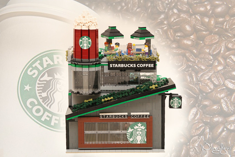 [MOC] Starbucks Cafe(星巴克咖啡店)- Modular