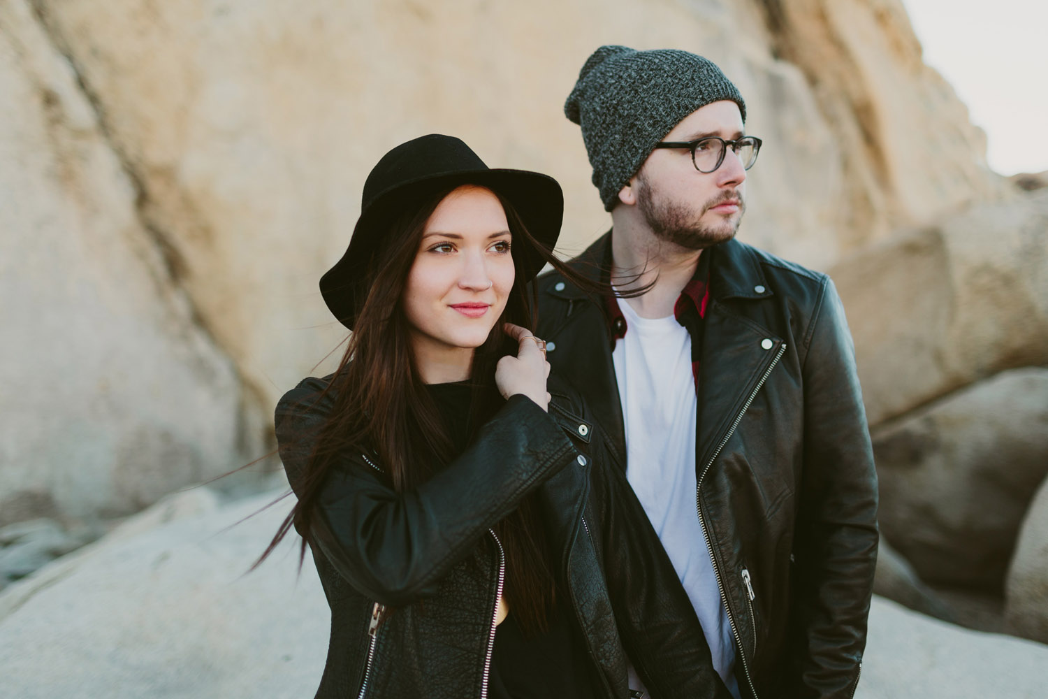 Joshua tree adventure engagement