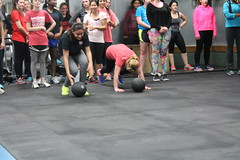 dance(0.0), sport venue(1.0), sports(1.0), room(1.0), crossfit(1.0), physical fitness(1.0), person(1.0), physical exercise(1.0),