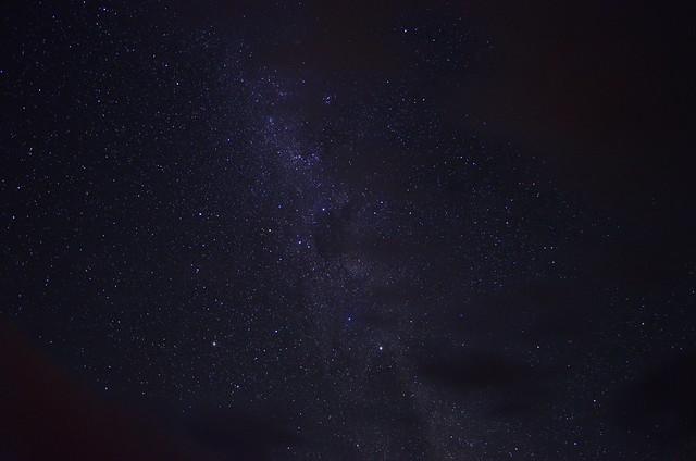 Noche semidespejada