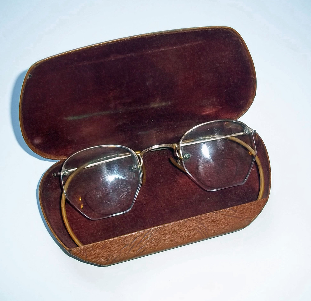 fa8d19991c1 Vintage Antique Rimless Eyeglasses 1 10 12K Gold Filled Fr…