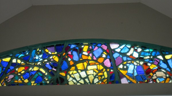Sun stained glass window