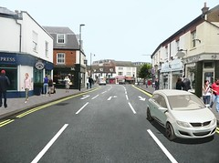 Artist's impression of two-way traffic in Epsom
