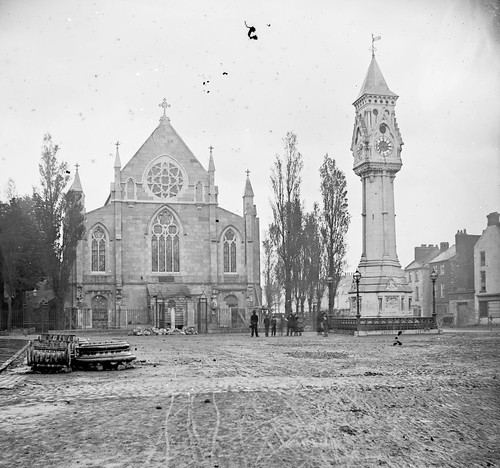 thestereopairsphotographcollection lawrencecollection stereographicnegatives jamessimonton frederickhollandmares johnfortunelawrence williammervynlawrence nationallibraryofireland tait memorial limerick clock taitmemorialclock limerickmunster ireland sirpetertait mayor bakerplace glentworthstreet confederategovernment americancivilwar uniforms caps stsaviourschurch locationidentified