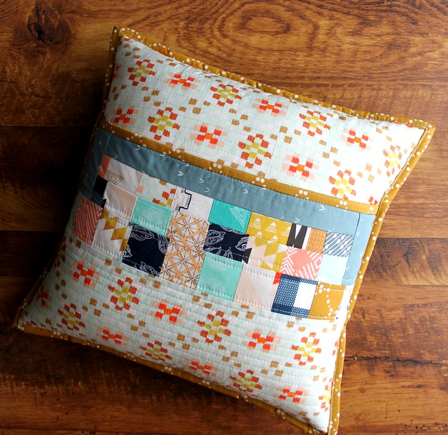 Scrappy Film Strip Pillow Back