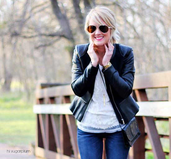 Hi Sugarplum   {3 Ways} to Wear Jeans to Work