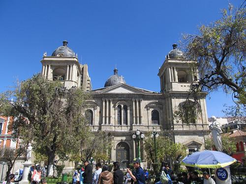 La Paz: la Cathédrale Métropolitaine et la Plaza Murillo