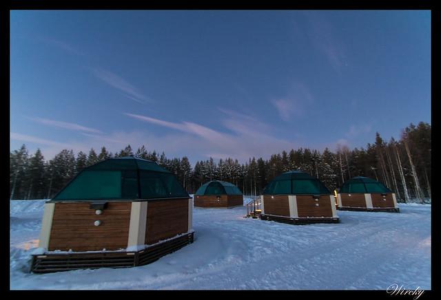 Laponia iglú cristal mina amatistas sauna finlandesa - Iglús de cristal