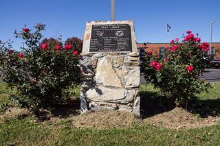 Edneyville High School monument