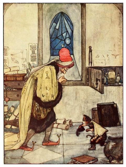 014- El gato con botas-Favourite French fairy tales -1921-ilust. Rie Cramer