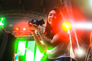 Pretty Girl, Camera, and Stage Lights