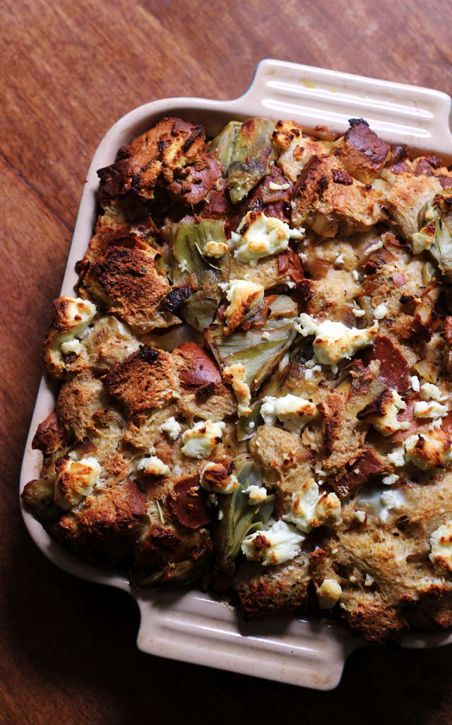 artichoke and goat cheese strata - Cheese Strata Recipes Brunch