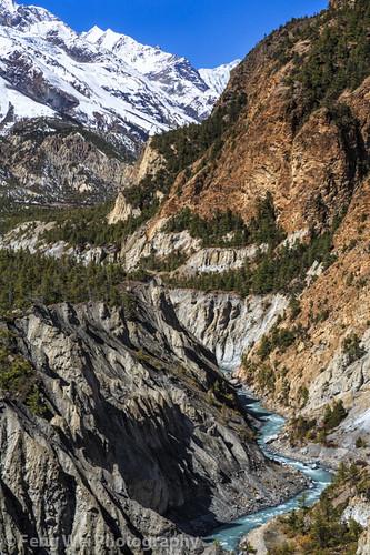 travel nepal mountain color beautiful vertical forest landscape asia outdoor scenic valley remote annapurnacircuit marsyangdi annapurna himalayas pisang gandaki marshyangdi annapurnaconservationarea