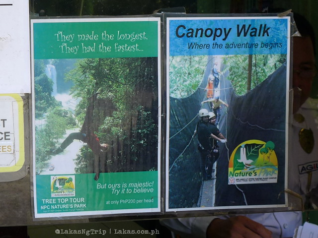 Zipline and Canopy Walk. NPC Nature's Park in Iligan City, Philippines
