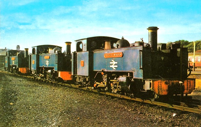 Vale of Rheidol Railway - Loco fleet in BR blue (old postcard)