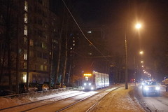 Moscow tram PESA at line 28