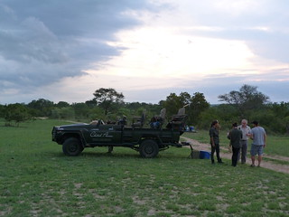 Coche de Cheetah Plains con el que hicimos el safari en Sabi Sand (Kruger National Park, Sudáfrica)