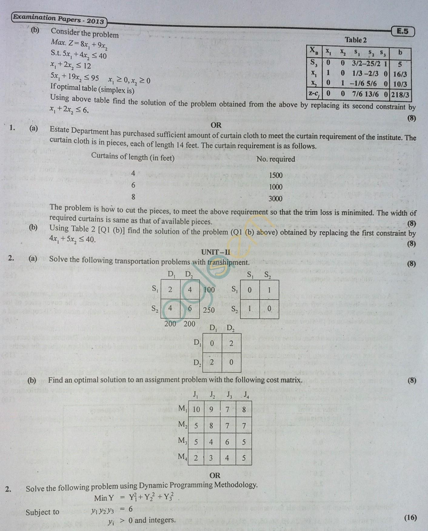RTU: Question Papers 2013 - 7 Semester - ME - 7E4062