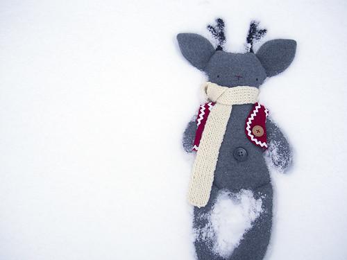 Rudolf in the snow