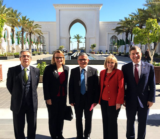 Assistant Secretary Rivkin, Assistant Secretary Patterson, and U.S. Ambassador Polaschik Pose for a Photo With Algerian Officials in Algiers