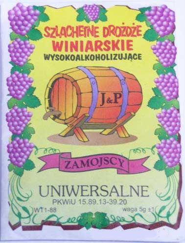 drożdże winiarskie