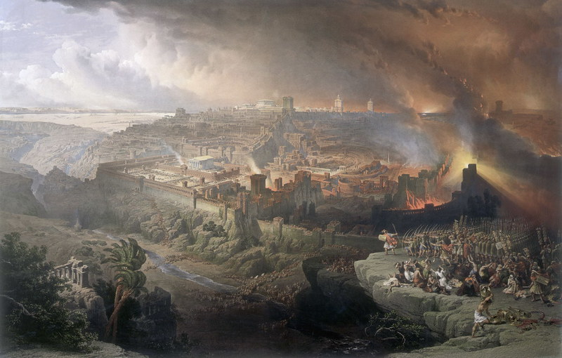 The Siege and Destruction of Jerusalem by the Romans Under the Command of Titus by David Roberts