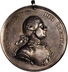 Lot 17 George III Indian Peace Medal obverse