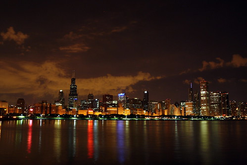 light summer sky cloud lake chicago colour reflection water architecture night canon buildings aquarium illinois long exposure michigan adler planetarium shedd tamron 1024mm 1000d