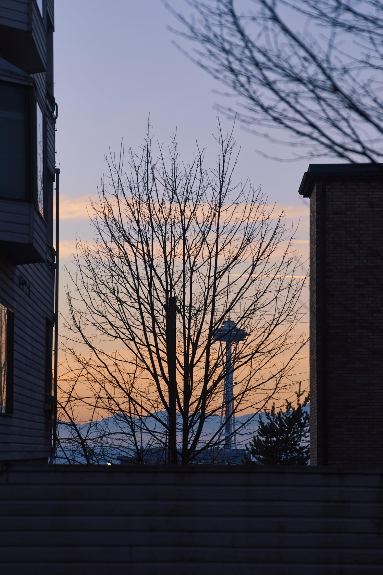冬天街景, 冷冷的色調