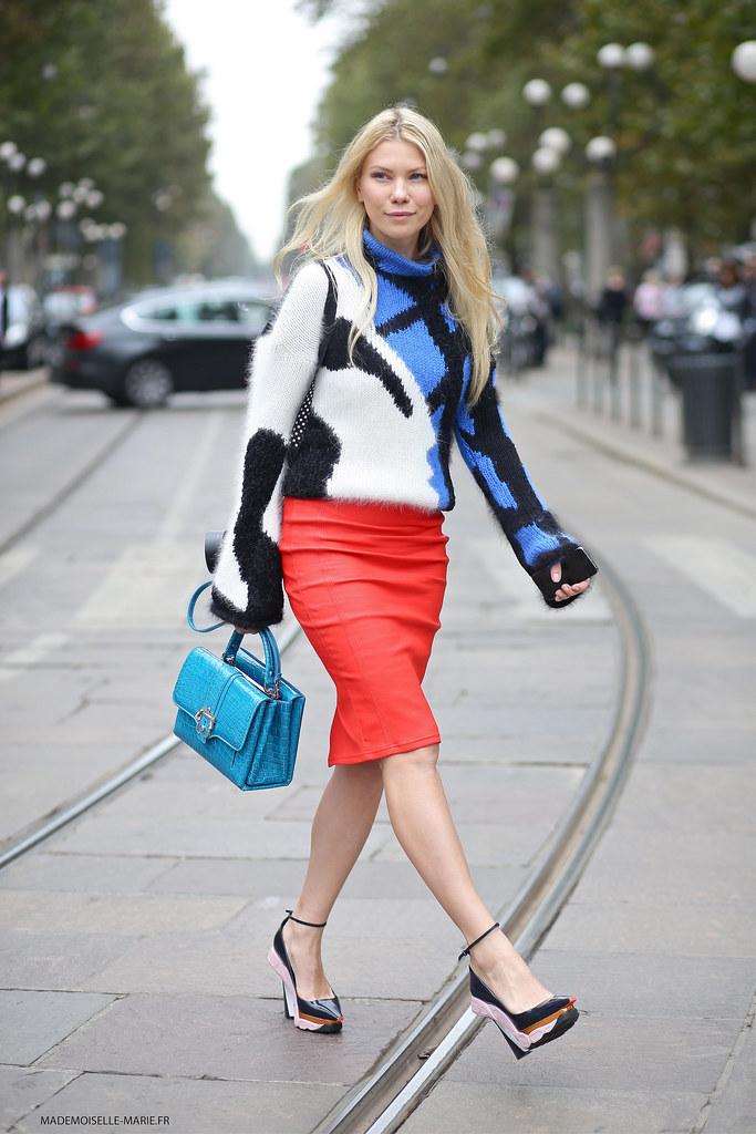 Zhanna Bianca at Milan fashion week