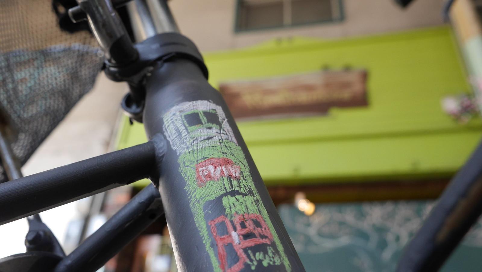 Blackboard bicycle
