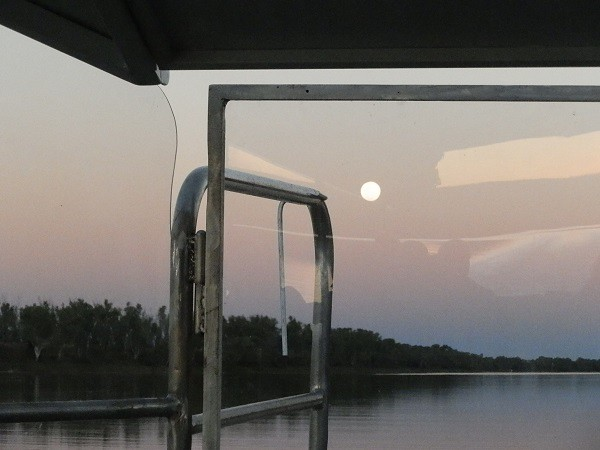 Moonrise on a Croc-proof boat, Victoria River