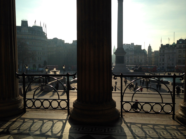 View from the National Gallery, Trafalgar Square