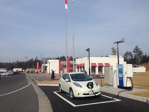 山陽自動車道 小谷SA(上り) 電気自動車用急速充電器